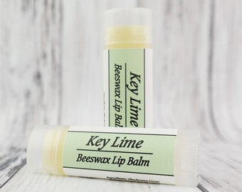 Organic Key Lime Lip Balm • Natural Beeswax • With Essential Oil •