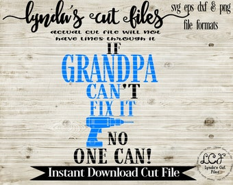 If Grandpa can't fix it no one can SVG/DXF file