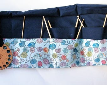 Circular Knitting Needle Case. Knitting Wool fabric.