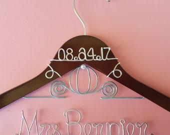 Cinderella Hanger, Disney Wedding, Wedding Dress Hanger, Disney Bride Hanger, Wedding Hanger, Personalized Hanger, Bridal Hanger