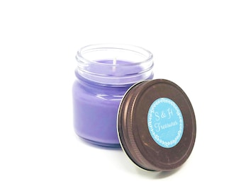 Lemon Lavender - Pure Soy Candle - 8 ounce - Hand Poured - Aromatherapy - Essential Oil - Home Fragrance - Mothers Day - Gift Idea - Wedding