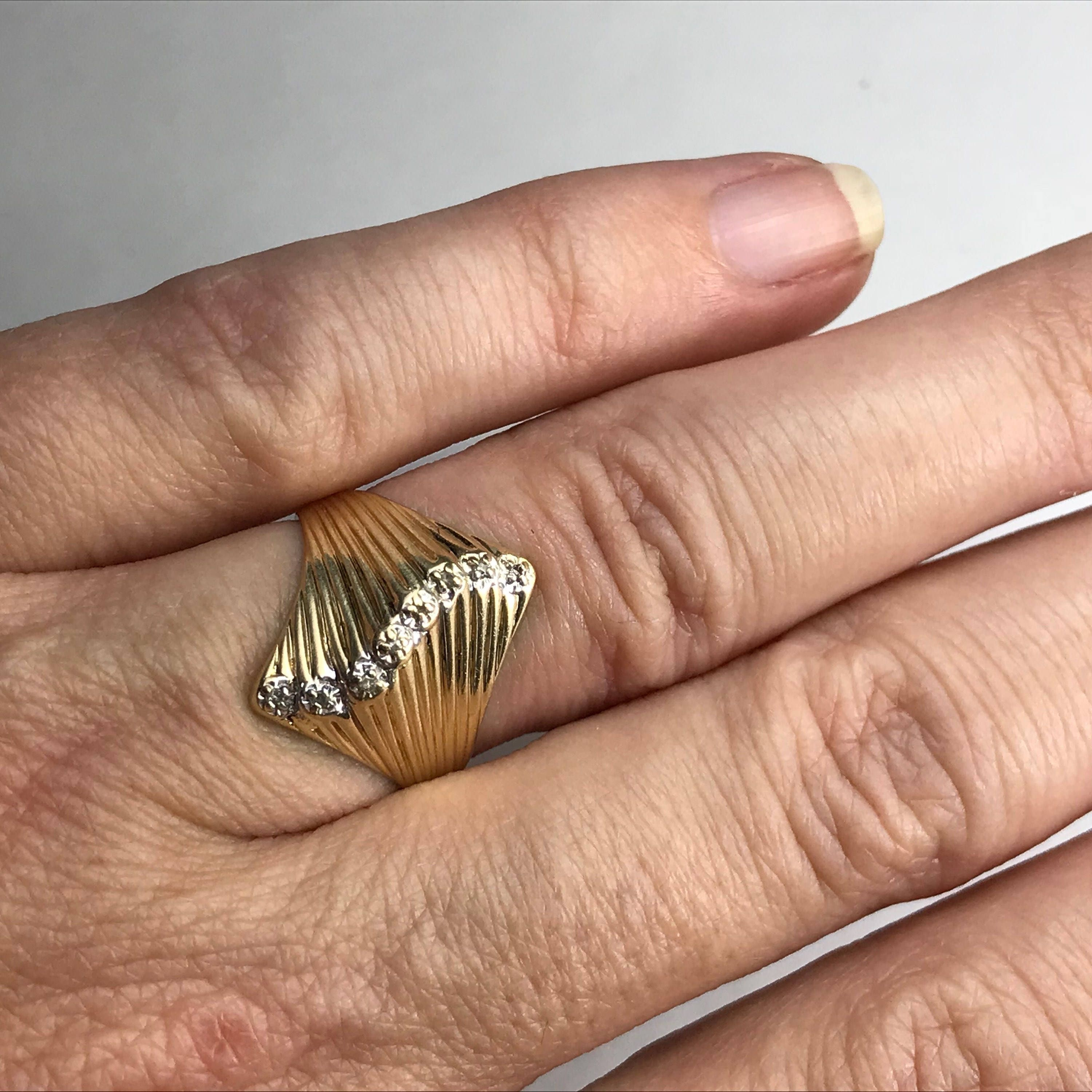pin rings ring rutilated gold engagement modernist quartz scandinavia