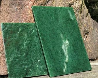 "Siberian Nephrite Jade Tiles - 5""x7"" - Natural Jade"