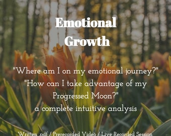 Emotional Growth: An Astrology, Tarot & Oracle Session (sashastrology)