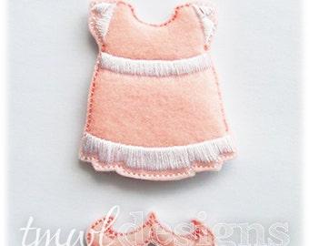 Sundress Felt Paper Doll Toy Outfit Digital Design File - 5x7