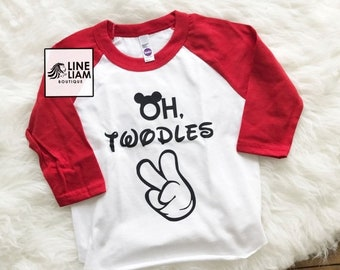 ENDS AT 2AM oh twodles, two year old shirt, i'm two lets party, 2nd birthday, raglan, two year old birthday shirt, boys birthday shirt, boy