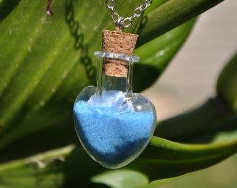 Heart Sand Vile Essential Oil Necklace