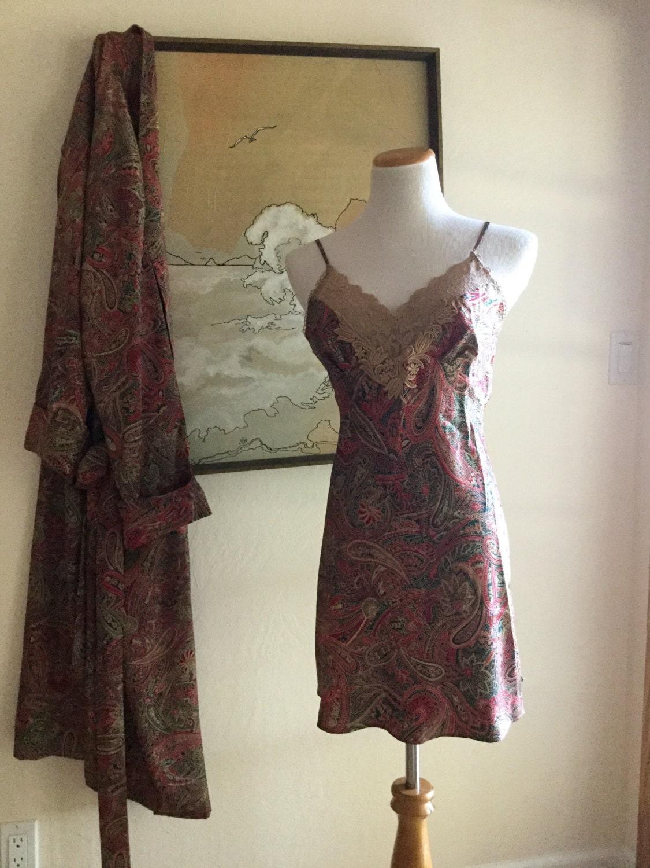 vintage Victoria secret set kimono night gown set robe evening