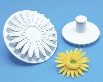 """PME 4"""" Veined Sunflower Gerbera & Daisy Plunger Cutter - Fondant Gumpaste Clay Crafts"""