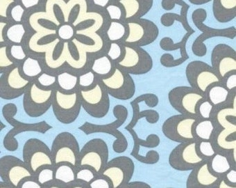 1 yard - Wallflower in Sky, Lotus collection by Amy Butler