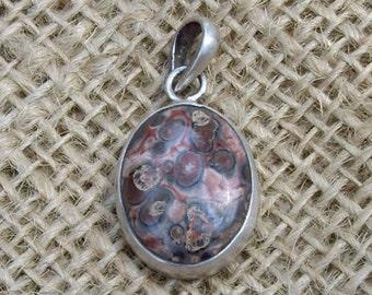 Silver Encircled Leopard Skin Jasper