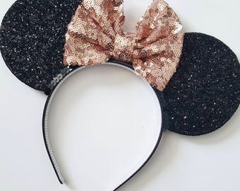 Rose Gold Mouse Ears || Mouse Ears || Mouse Ears|| Mouse Ears headband || Rose Gold