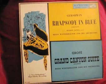 Andy Warhol Cover and LP of Rhapsody in Blue and Grand Canyon Suite