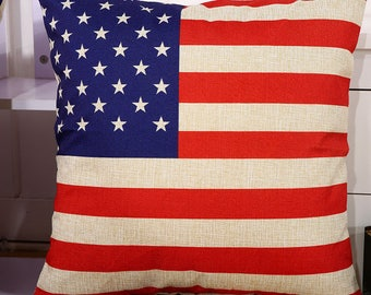 "Patriotic Flag 18"" x 18"" pillow case pillow cover"