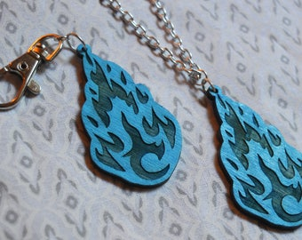 Brisingr in Flames Keychain and Necklace