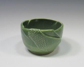 Ceramic Soup Bowl - pottery dip bowl - green bowl - soup bowl - ice cream bowl - noodle bowl - rice bowl - chili bowl - soup mug