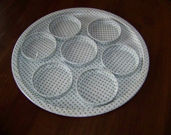 Vintage tray and matching coasters