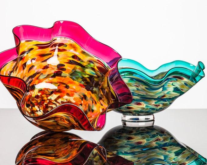 Hand Blown Glass Bowl - Incalmo