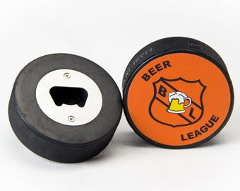Hockey Puck Bottle Opener (Beer League)