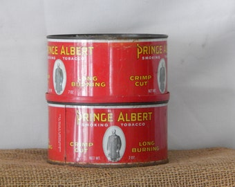 2 Prince Albert Smoking Tobacco tins