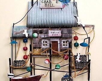 Crab E. Bills Metal Wall Shack - CA711