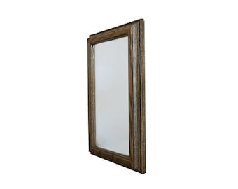 Rustic Wood & Antique Mirror