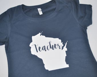 Wisconsin (any state) Teacher can customize or personalize to any state