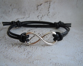 Infinity Bracelet, Friendship Bracelet, Leather Bracelet, Christmas Gift, Mens Infinity, Womens Infinity, Stocking Stuffer, Best Friend Gift