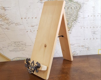 Wooden Tabletop Easel with Antique Decor