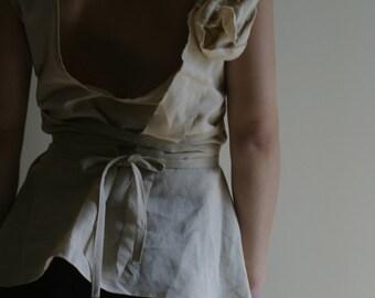Natural Linen Top by NervousWardrobe on Etsy