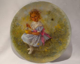 1981 Mother Goose Series Collection Plate Little Miss Muffet by John McClelland #2802R