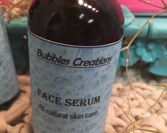 Face serum in a 2oz bottle