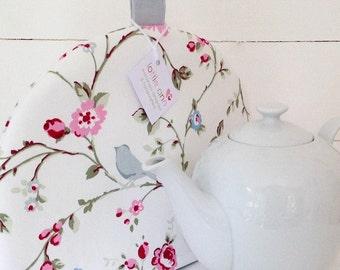 Tea Cosy, Bird Trail Tea Cosy, Pretty Tea Cosy, Floral Tea Cosy, Kitchen Accessory, Tea Time!