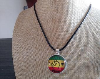 Rastafarian Peace Sign Necklace