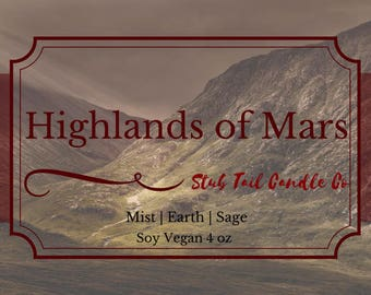 Highlands of Mars - Soy Scented Candle Inspired by Red Rising