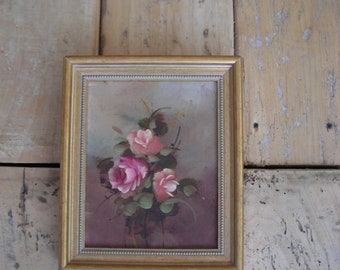 Oil Painting of Roses. Still Life Oil Painting on Canvas.  Flower Painting.
