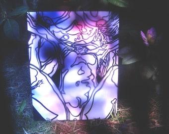 """C+E [acrylic on canvas, 16x20""""]"""