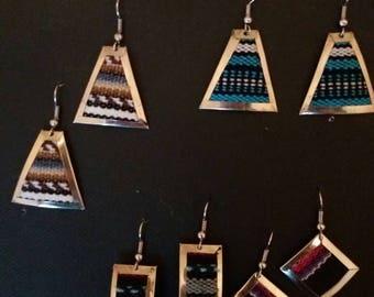 Alpaga and Aguayo metal ethnic earring