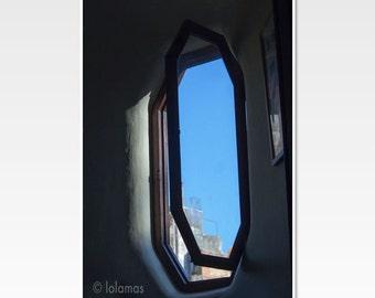 Window Photography, Gaudí, window art, architecture art, Fine Art Photography, Barcelona