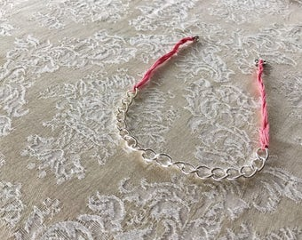 Pink and chain choker
