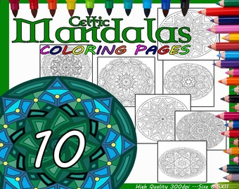 Celtic Mandala Coloring Pages For Adults, Coloring Pages, Coloring Pages for Adults, Mandala Coloring Pages, Mandala Coloring Sheets