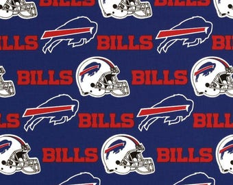 NFL Buffalo Bills 100% Cotton Fabric by the yard (IST3)