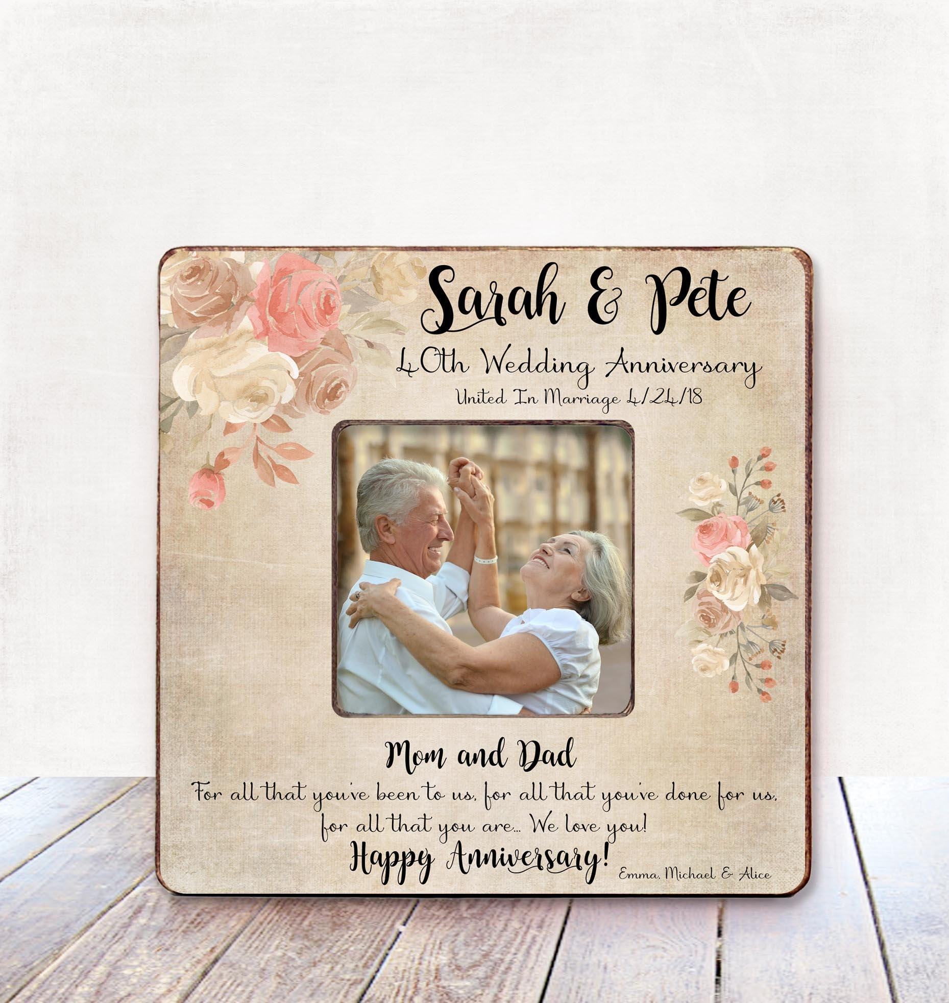 Parents Anniversary Gift Parents 40th Wedding Anniversary Gift ...