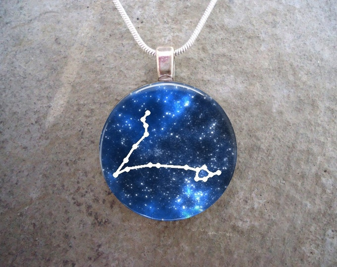 Pisces Constellation Jewelry - Glass Pendant Necklace - Astronomy