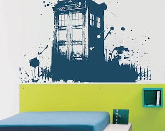 Tardis Vinyl Wall Decals Doctor Who Wall Decals Doctor Who Inspired Decals  Vinyl Decal Wall Decor Large Wall Sticker Kik2254