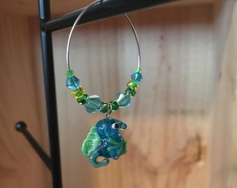 Seahorse Wine Glass Charm