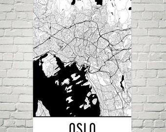 Oslo Map, Oslo Art, Oslo Print, Oslo Norway Poster, Oslo Wall Art, Oslo Gift, Map of Oslo, Oslo Poster, Oslo Decor, Oslo Map Art Print