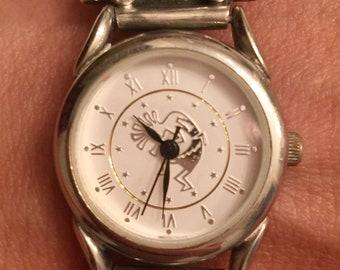 Kokopelli Black Onyx Stone Watch