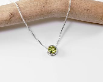 dp gold necklace pendant peridot yellow shaped pear with quot chain