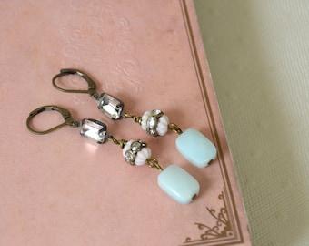 Gemstone Earrings / Ear Drops / vintage style Earrings